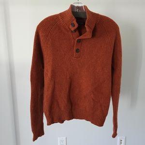 Banana Republic Wool Henley Pullover Sweater